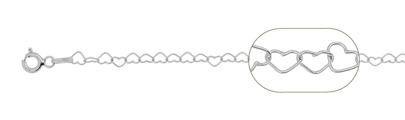 lant argint 925 inimi 38 cm, grosime 3 mm