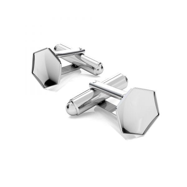 Butoni argint 925 pentru swarovski 4683 10 mm