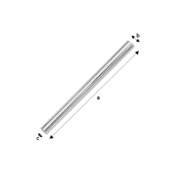 tub argint 925 lungime 25 mm