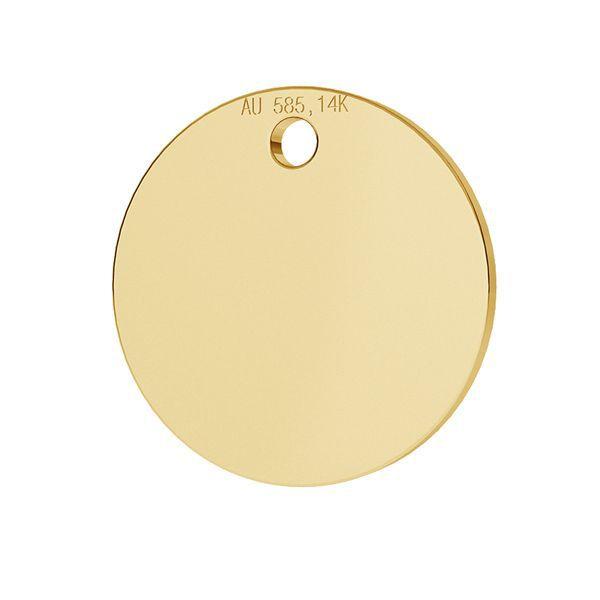 Banut aur 14k -1u 585 16 mm 1 gaura placat cu au 24k