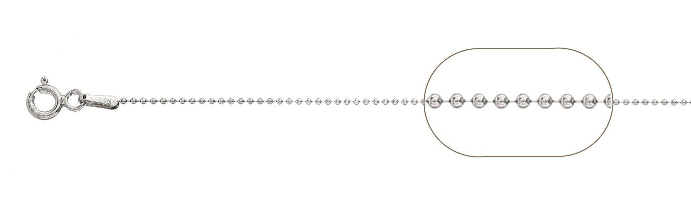lant cu bila 1mm lungime 45 cm argint 925