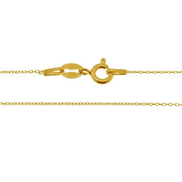 lant aur 14k -au585 38 cm placat cu aur de 24k
