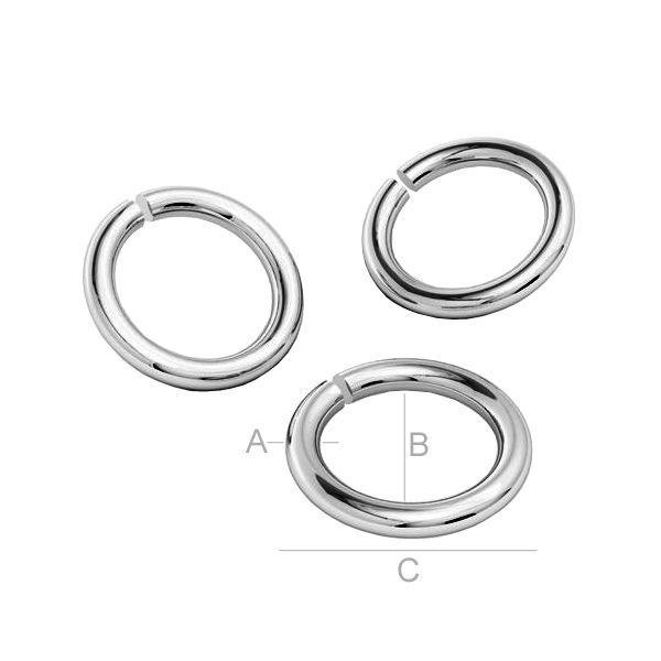 zale argint 925  0.8 x 2 mm