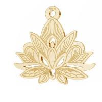 pandant lotus aur 14k au 585 , placat cu aur de 18 K
