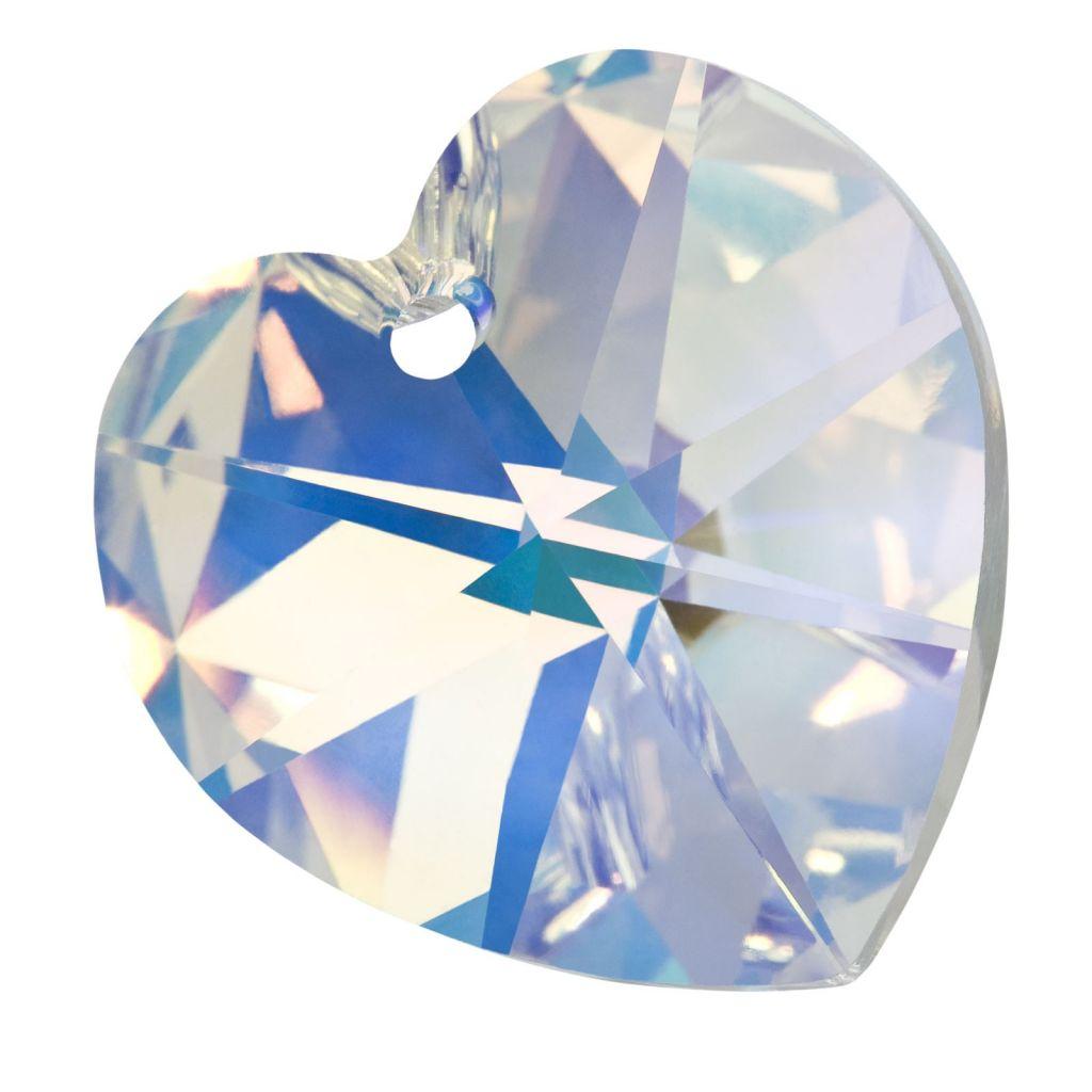 pandant Preciosa inima 14mm crystal ab
