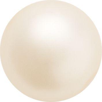 perle Preciosa 10mm creamrose, cu gaura strapunsa dintr-o parte in alta