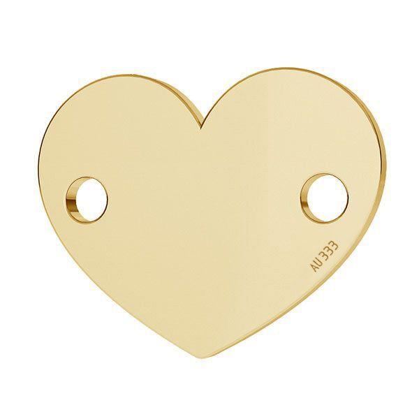 inima aur 333 8k placat cu aur de 18 k