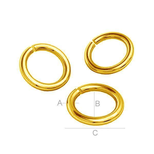 zale 1 x 3 mm aur 8K au333 placat cu aur de 24 k