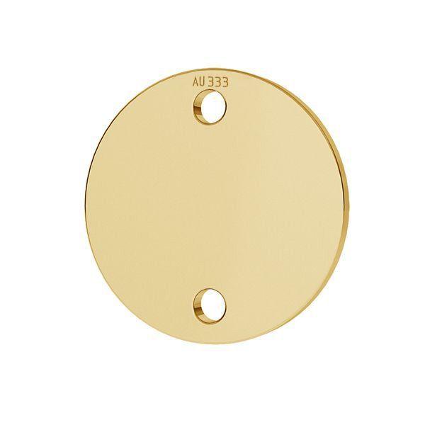 banut aur 10 mm  8k au 333 placat cu aur 18 k