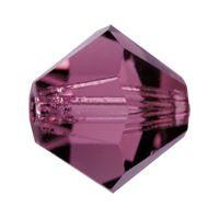 Biconic Preciosa 4mm Amethyst
