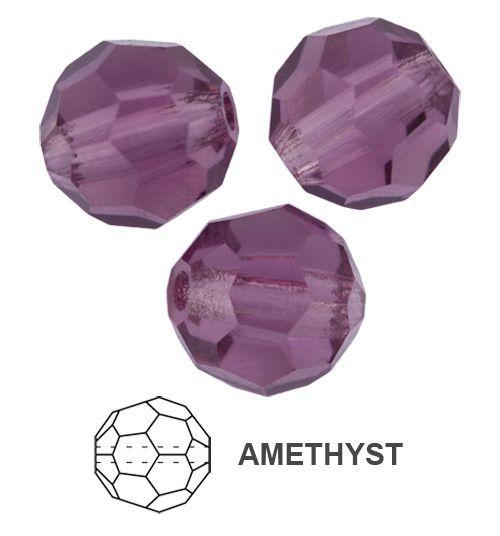 Margele rotunde Preciosa 6 mm ametthyst
