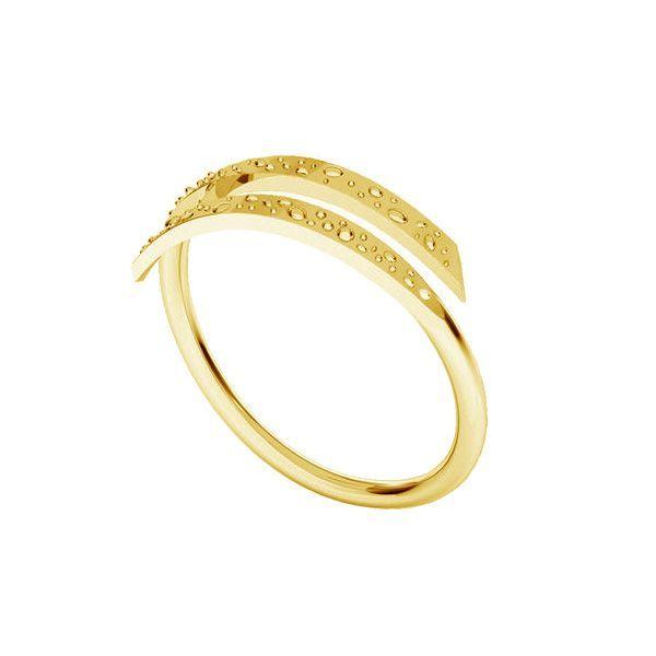 inel argint 925 placat cu aur