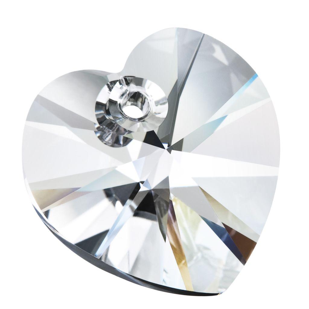 pandant 10 mm inima preciosa Cristal