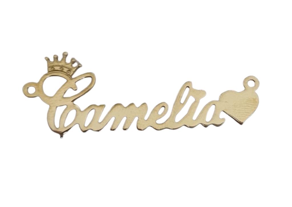 Tablita argint 925 placata cu aur camelia