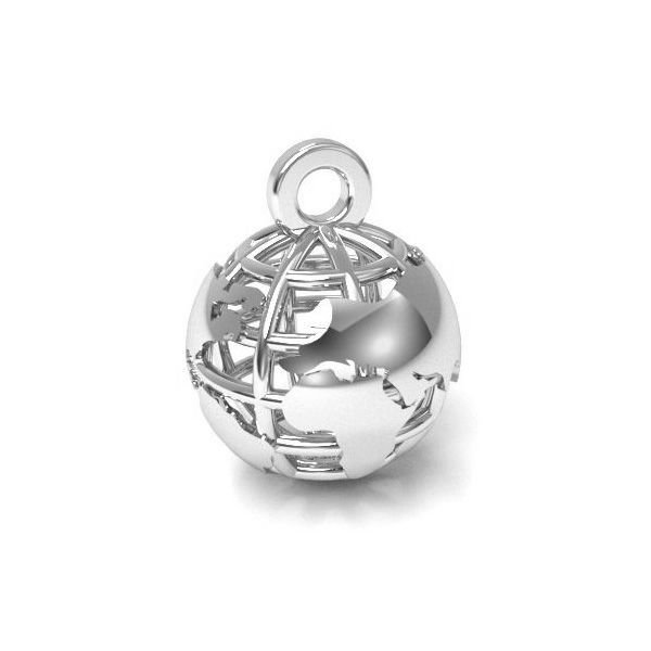 pandant argint 925 glob 10.5 mm