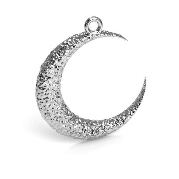 Pandant argint 925 luna 22 mm