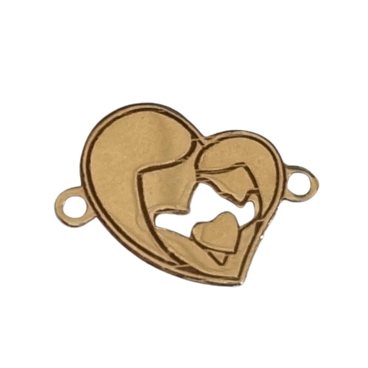 pandant inima aur  14k placat cu aur de 18 k