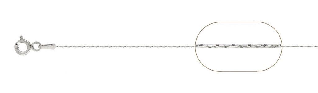 Lant argint 925 cardano  55 cm, greutate 1,53 grame