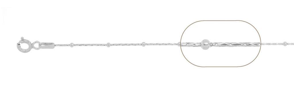 bratara  argint 925 cardano cu bilute  20 cm