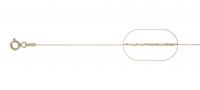 Lant argint 925 placat cu aur  cardano  38 cm