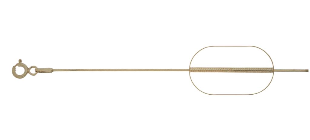lant argint 925 placat cu aur snake 38 cm, greutate 1,58 grame
