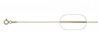 lant argint 925 placat cu aur snake 42 cm