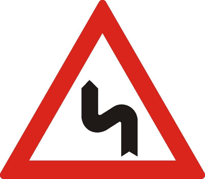 Curbă sau o succesiune de mai mult de două curbe, prima la stânga