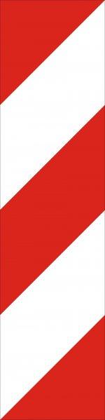 Baliză direcțională care indică ocolirea obstacolului prin stânga