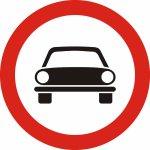 Accesul interzis autovehiculelor, cu excepția motocicletelor fără ataș
