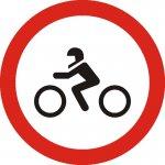 Accesul interzis motocicletelor