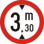 Accesul interzis vehiculelor cu înălțimea mai mare de ... m