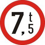 Accesul interzis vehiculelor cu masa mai mare de .....t