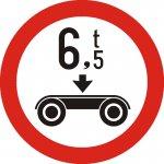 Accesul interzis vehiculelor cu masa pe osia dublă mai mare de .....t