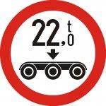 Accesul interzis vehiculelor cu masa pe osia triplă mai mare de ...t