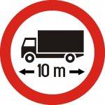 Accesul interzis autovehiculelor sau ansamblurilor de vehicule cu lungimea mai mare de ...m