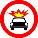 Accesul interzis vehiculelor care transportă substanțe explozive sau ușor inflamabile