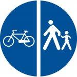 Delimitarea pistelor pentru pietoni de cele destinate bicicletelor și mopedelor
