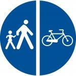 Delimitarea pistelor pentru pietoni de cele destinate bicicletelor și ciclomotoarelor