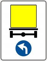 Direcția obligatorie pentru vehiculele care transportă mărfuri periculoase