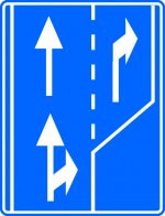 Selectarea circulației pe direcții de mers în apropierea intersecției