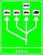Selectarea circulației pe categorii de vehicule la apropierea de o stație de taxare