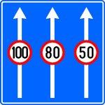 Limite de viteză pentru diferite benzi de circulație