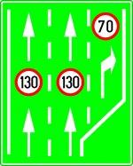 Limite de viteză pentru diferite benzi de circulație pe autostradă