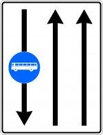 Bandă de circulație rezervată autovehiculelor de transport public de persoane