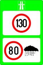 Limite maxime de viteză pe autostradă, funcție de condițiile meteorologice