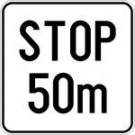 Distanța până la indicatorul Oprire