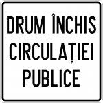 Drum închis circulației publice