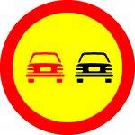 Depășirea autovehiculelor cu excepția motocicletelor fără ataș, interzisă
