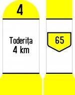 Indicatoare kilometrice pentru drumuri comunale