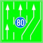 Bandă destinată circulației vehiculelor lente pe autostradă